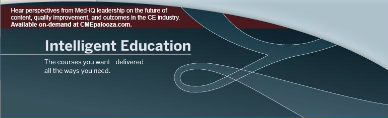Hear perspectives from Med-IQ leadership on the future of content, quality improvement, and outcomes in the CE industry. Available on-demand at CMEpalooza.com.
